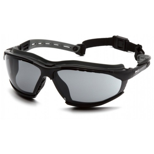 ISOTOPE GRAY SAFETY GLASSES WITH H2MAX COATING