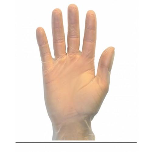 The Safety Zone ® Powder Free Clear Vinyl Gloves, 2XL