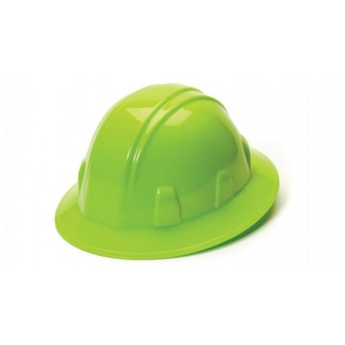 SL SERIES FULL BRIM HARD HAT, 4-Point Ratchet, Lime