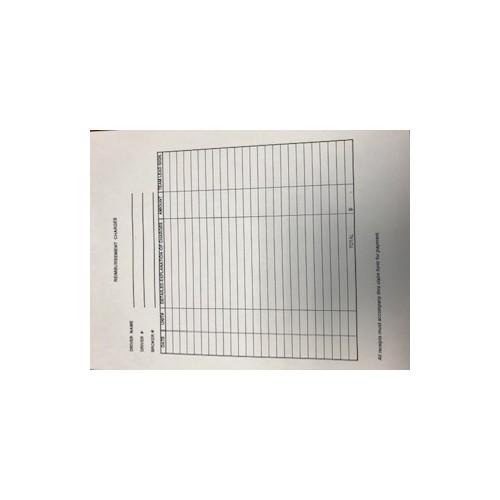 Amerigas Reimbursement Forms 25/pk