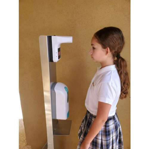 Hands Free Temperture Check and Sanitizing Health Station