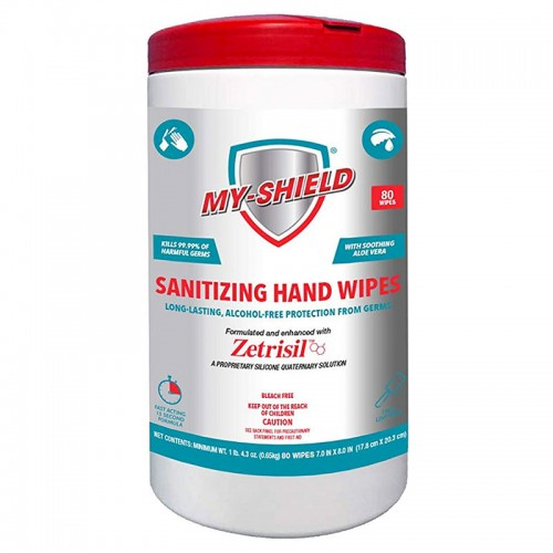 My-Shield Sanitizing Hand Wipes. (80 Count Canister)