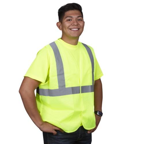 Safety Vest, Type R, Class 2, Mesh, 4XL
