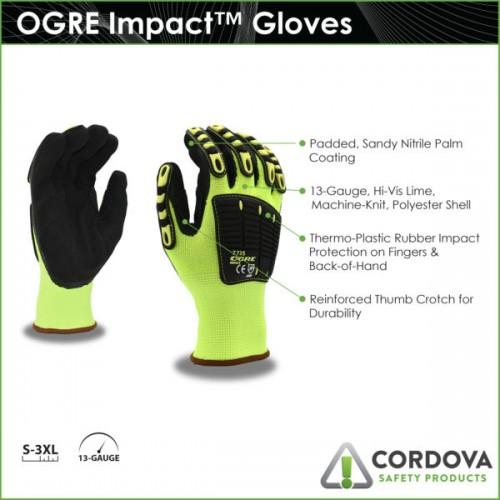 Impact, OGRE Impact™, Sandy Nitrile, Industrial, XL