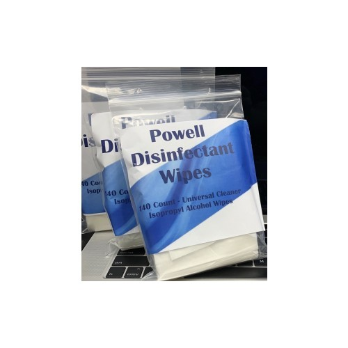 POWELL INDUSTRIAL WIPES, Case of 20 bags