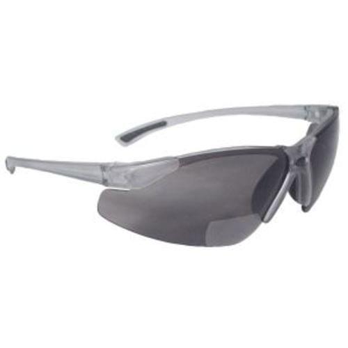 Radians C2 Bi-focal Safety Glasses, Smoke +2.5