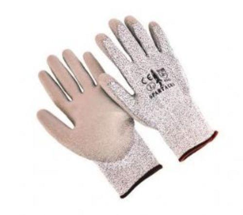 CUT RESISTANT POLYURETHANE COATED GLOVES, SIZE LARGE