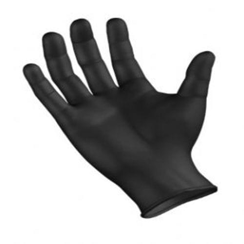 SemperForce Nitrile Disposable Gloves  Powder-Free  Textured  Black; Size - Small