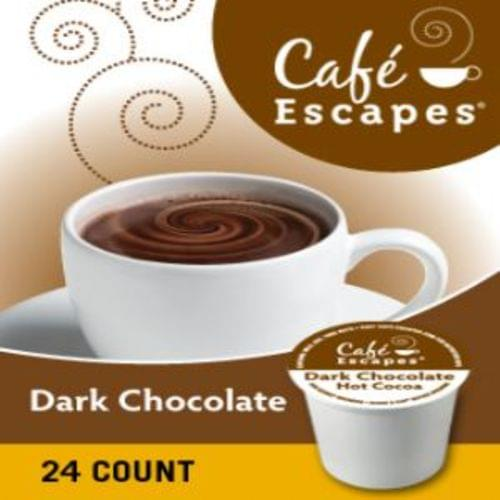 K-cup cafe escapes dark chocolate 24/bx