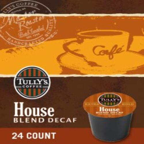 K-CUP TULLY'S HOUSE BLEND DECAF 24/BX