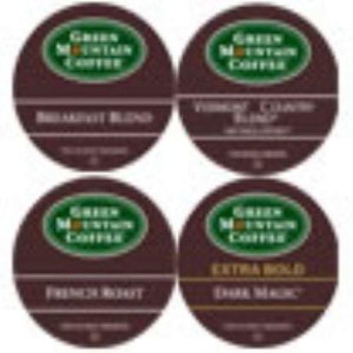 K-cup regular variety 6 breakfast, 6 dark magic, 6 vt cty blend, 4 french roast 22/bx