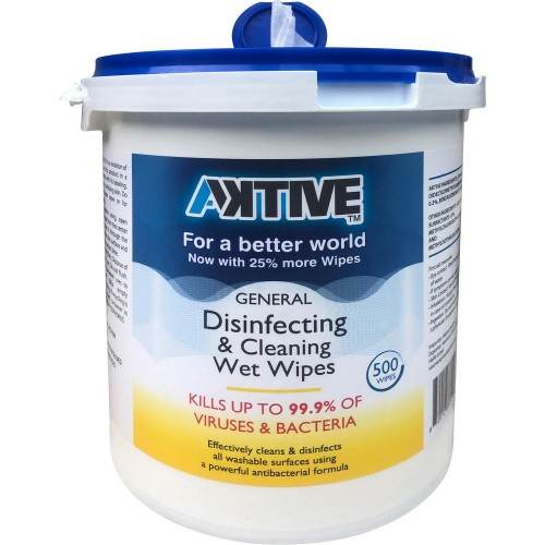 "DISINFECTING WIPES 7X8"" 500/TUB"