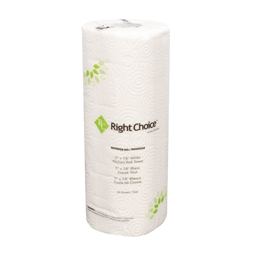 Kitchen roll towel 2ply white 30/case