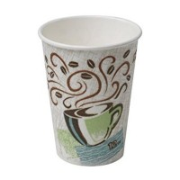 Hot cup 12oz burl/bean print 50/sleeve