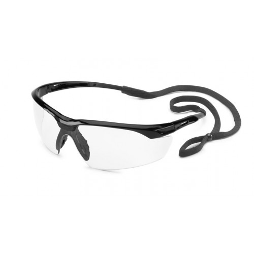 Conqueror Safety Glasses with fX3 Premium Anti-Fog Coating, Black Frame, Clear Lens