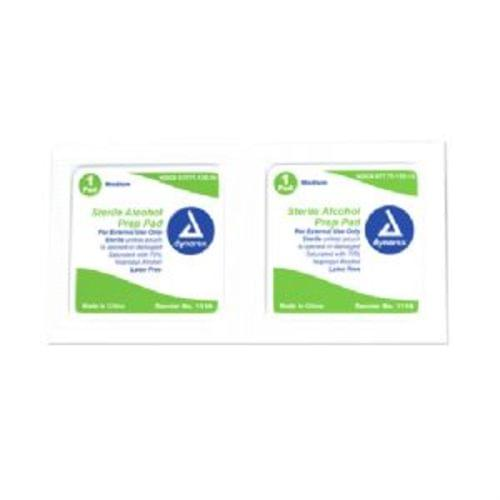 Sterile Alcohol Prep Pads Medium 100/BX