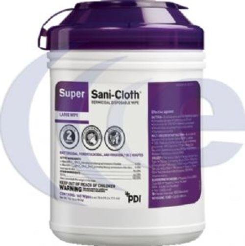 PDI Super Sani-Cloth Germicidal Disposable Wipes Large 160 Count Canister