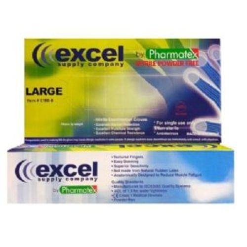 Excel Blue Exam Nitrile Powder-Free 100 Per Box 2XL