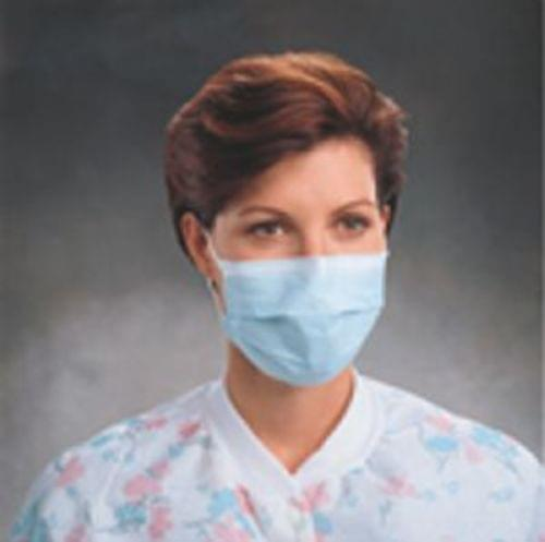 PROCEDURE MASK, PLEAT-STYLE WITH EARLOOPS, BLUE    *CALL FOR INFO