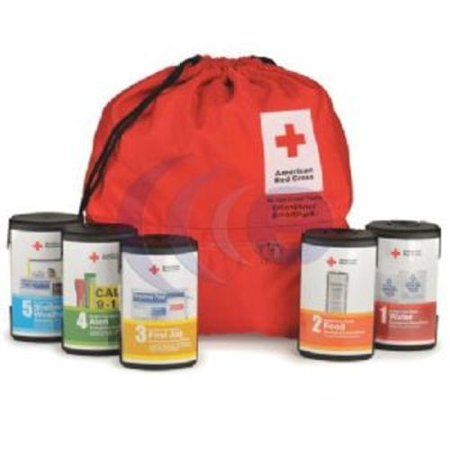 American Red Cross 5 Pack Modular SmartPack with Nylon Backpack