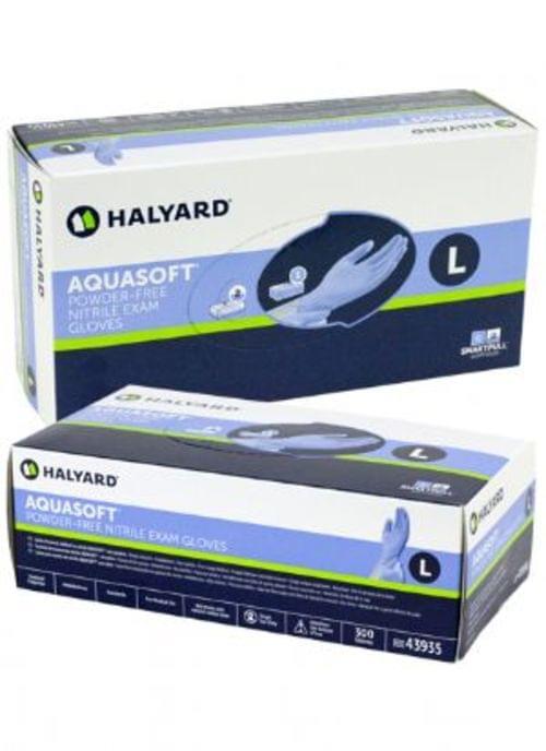 Halyard (Kimberly Clark) AQUASOFT* Nitrile Exam Gloves 300/BX Extra-Small