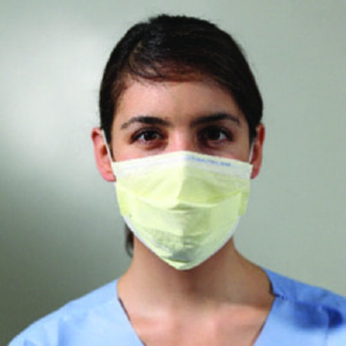 FLUIDSHIELD Level 1 Procedure Mask with earloops, Yellow