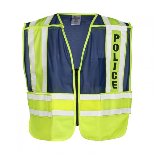 200 PSV Pro Series Police Safety Vest - Lime/Blue MEDIUM- EXTRA LARGE