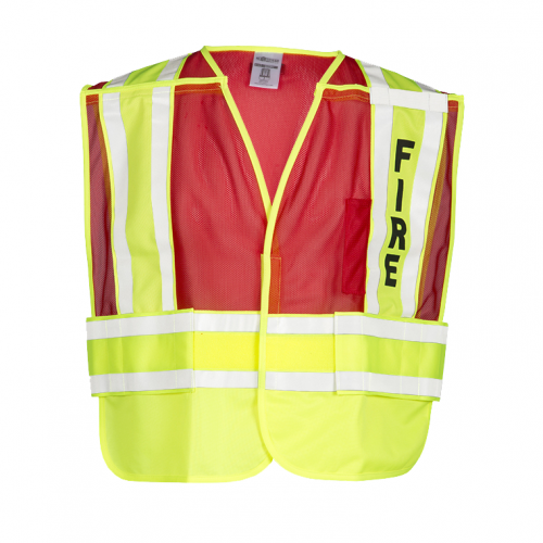 200 PSV Pro Series Fire Safety Vest - Lime/Red MEDIUM - EXTRA LARGE