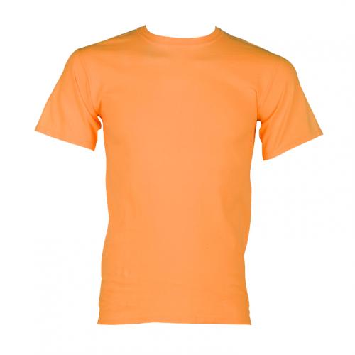 100% Cotton Short Sleeve T-Shirt - Orange 4XL