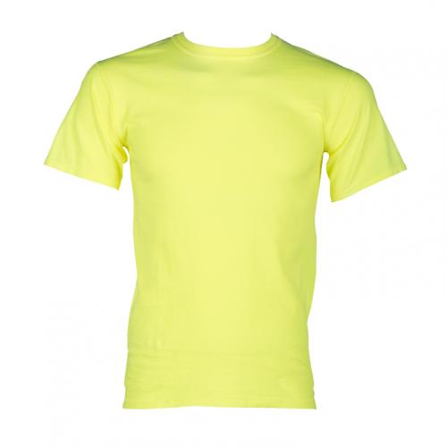 100% Cotton Short Sleeve T-Shirt - Lime 2XL