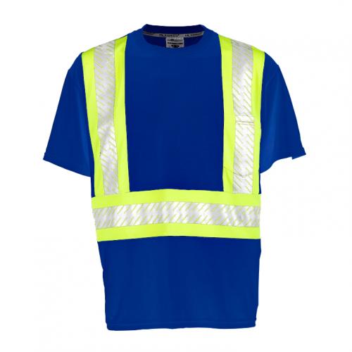*Enhanced Visibility Contrast Blue T-Shirt 4X