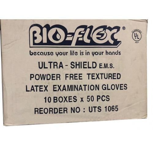 *BIO-FLEX ULTRA SHIELD POWDER FREE LATEX EXAM GLOVE