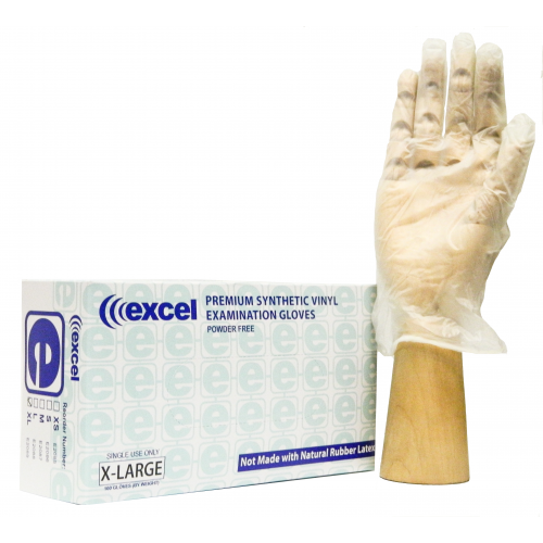 Excel Vinyl Powder-Free Exam Gloves Large