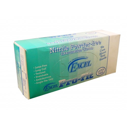 EXCEL NITRILE MEDIUM POWDER-FREE EXAM GLOVES