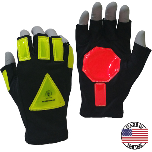 Glo Glov Superstop High-Visibility Retro-Reflective Gloves One Size