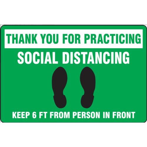 Slip-Gard Floor Sign: Social Distancing