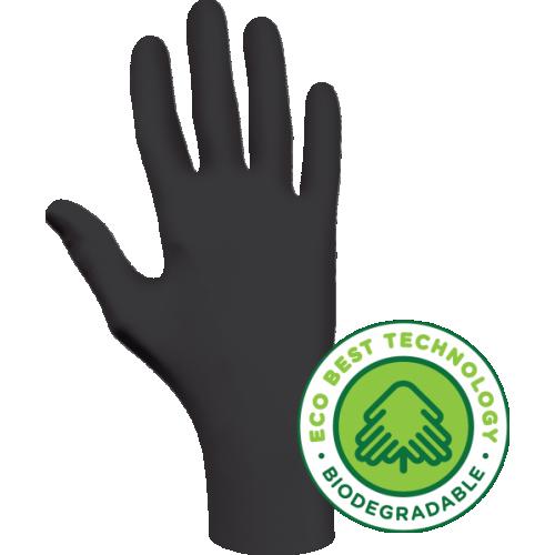 SHOWA Black Biodegradable Nitrile Glove- LARGE