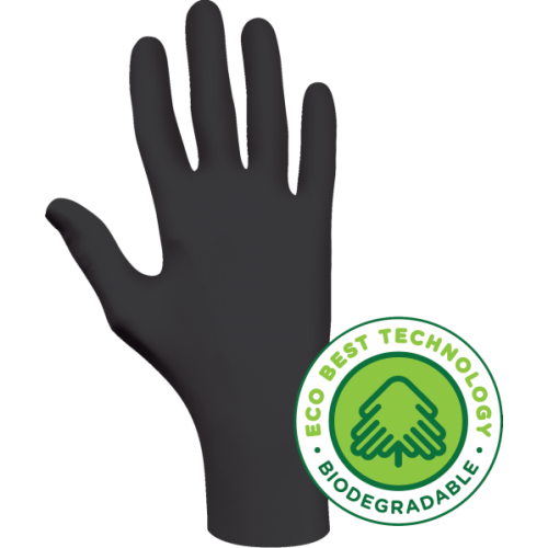 SHOWA Biodegradeable Black Nitrile Glove - MEDIUM