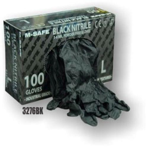 BLACK NITRILE DISPOSABLE GLOVE