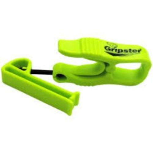 Gripster - Glove clip with belt clip on one end - Lime