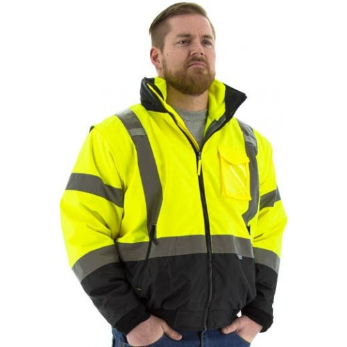 MAJESTIC - HIGH VISIBILITY 8-IN-1 WATERPROOF JACKET WITH HIGH VISIBILITY LINER, ANSI 3, R