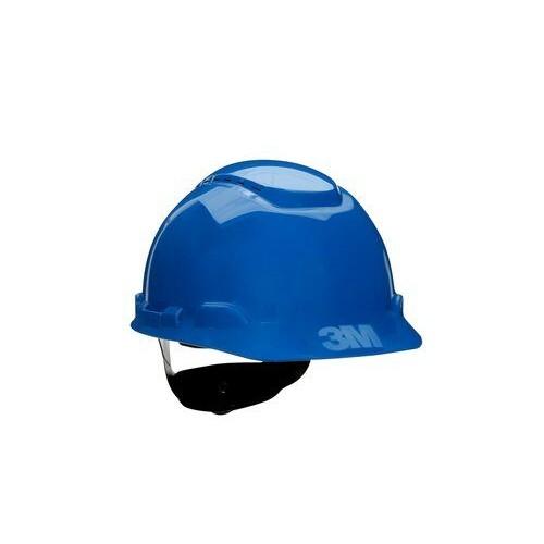 3M Hard Hat H-703V, Vented Blue 4-Point Ratchet Suspension, 20 EA/Case