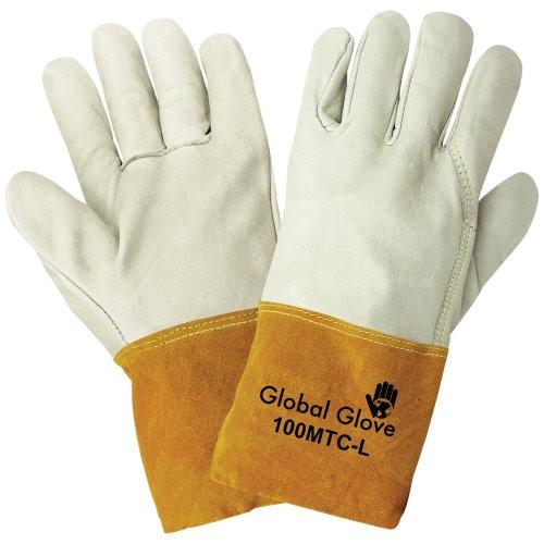Premium Grain Cowhide Mig/Tig Welder Gloves, 10 (XLarge)