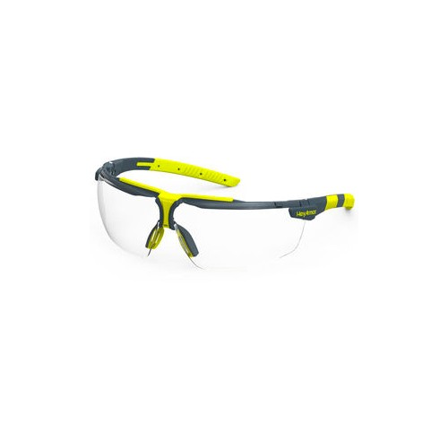 VS300 Charcoal Frame/Clear Lens Anti-Fog + Scratch Resistance Wrap Around Safety Glasses