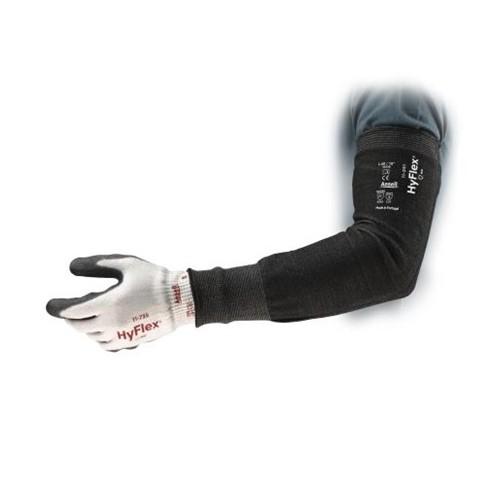 "16"" 15ga Black HPPE/Nylon/Spandex HyFlex Narrow Cut Resistant Sleeve"