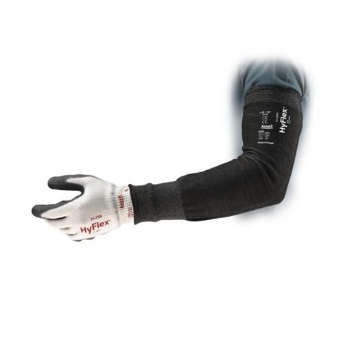"18"" 15ga Black HPPE/Nylon/Spandex HyFlex Narrow Cut Resistant Sleeve"