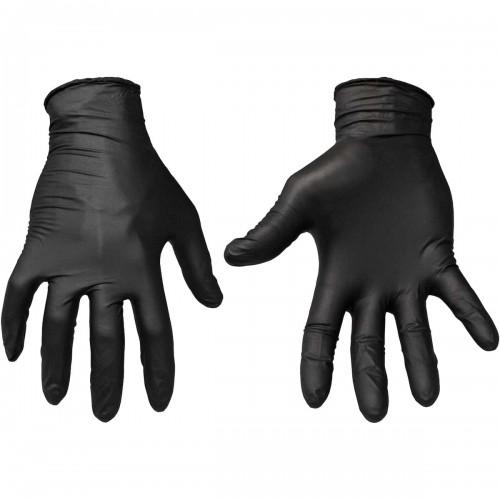 "General Grade 4 Mil, Disposable Nitrile Gloves 9"" - Powder-Free, Black"