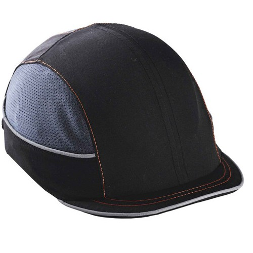Black Mirco Brim Skullerz 8950 Vented Bump Cap, Reflective Accents