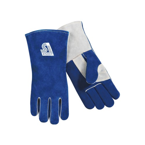 Premium Side Split Cowhide Stick Welding Gloves - ThermoCore Foam Lined, Large