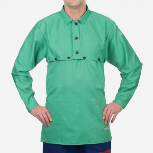 Green Cotton Cape Sleeve , 9oz. Flame Resistant, Small